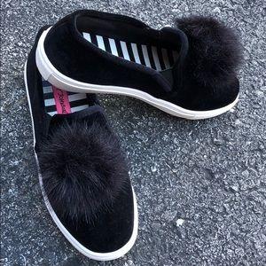 Betsey Johnson crushed velvet shoes